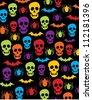 Halloween pattern - stock vector