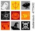 Halloween pop-art - others of same series : http://www.shutterstock.com/lightboxes.mhtml?lightbox_id=499012 - stock vector