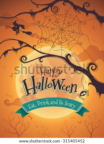 Halloween poster - stock vector