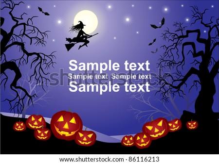 Halloween Poster - stock vector