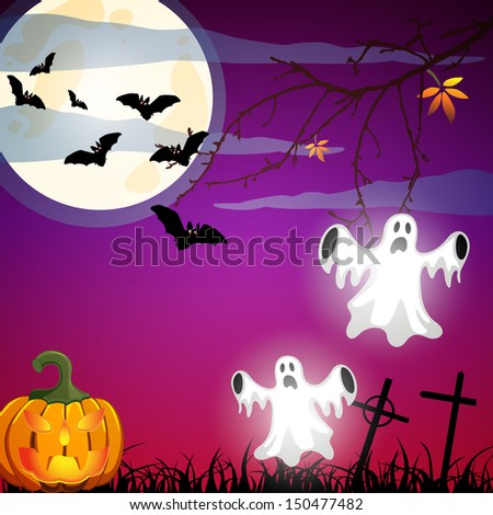 Halloween poster - vector - stock vector