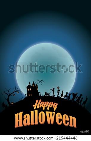 Halloween Poster, vector eps10 - stock vector