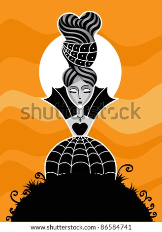 Halloween princess - stock vector