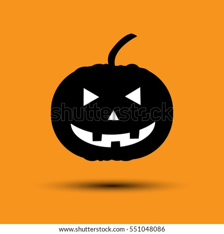 halloween pumpkin cartoon on ornage background