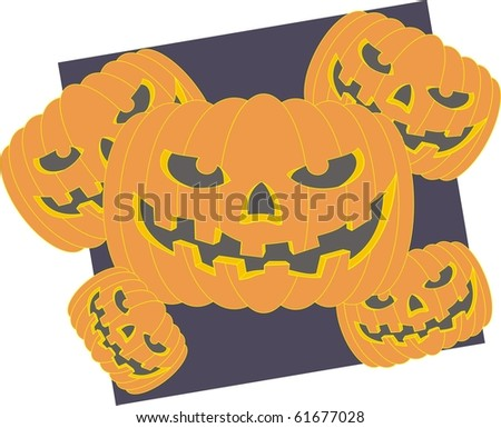 Halloween pumpkin color vector illustration