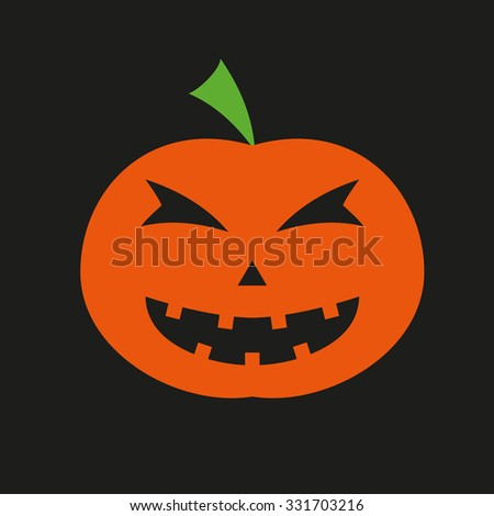 Halloween pumpkin icon. Colorful vector illustration. - stock vector