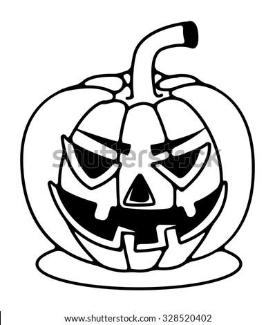 halloween pumpkin line drawing stock vector 328520402 shutterstock