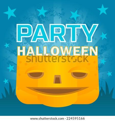 halloween pumpkin poster - stock vector