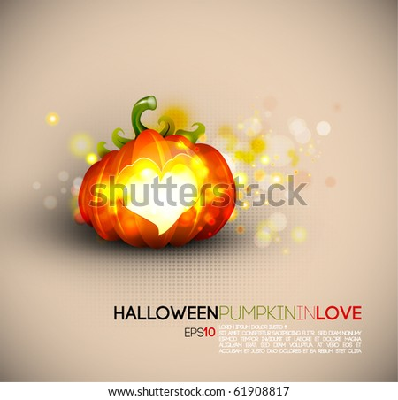 Halloween Pumpkin Spreading Love | EPS10 Compatibility Needed | Objects Separated on layers named accordingly - stock vector
