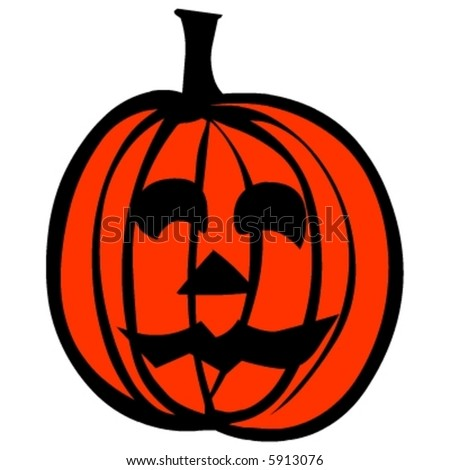 Halloween pumpkin vector - stock vector