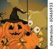Halloween pumpkin vector illustration. - stock vector
