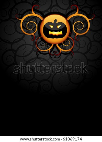 Halloween, scary pumpkin background - stock vector