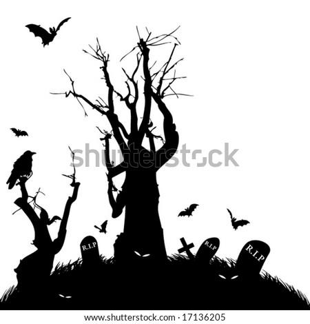 Halloween Scene - stock vector