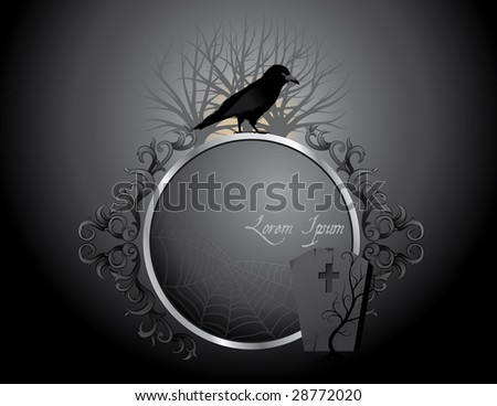 Halloween scenery - stock vector
