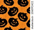 Halloween seamless background 1 - vector illustration. - stock vector
