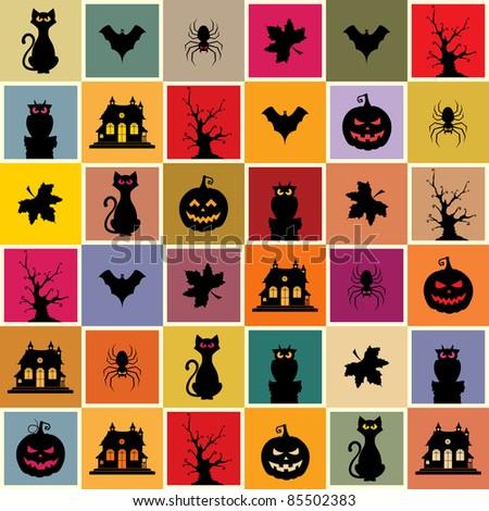 Halloween Seamless Pattern - stock vector