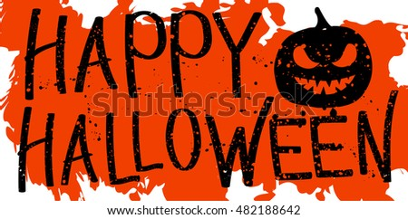 Halloween Sign Drops Texture Orange Background Stock Vector ...