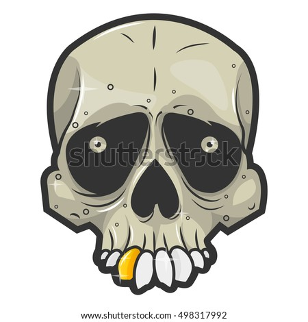 halloween skull symbol of day of the dead or halloween spooky skeleton head - Halloween Skeleton Head