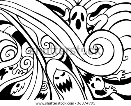 Vector Drawing Pattern Decorative Ink Drawn 319830185