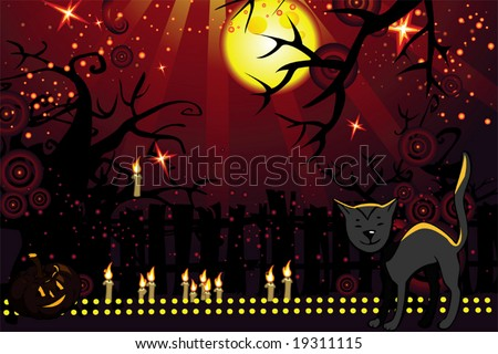halloween theme - stock vector