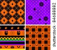Halloween theme backgrounds set, repeat this pattern as much as you want - stock vector