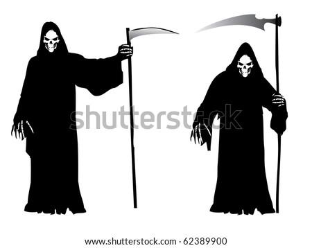 Halloween theme - Grim Reaper - stock vector