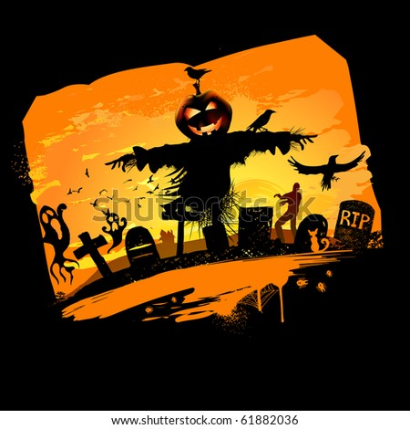 Halloween vector background design with room for text. - stock vector