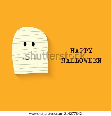 Halloween vector  background with mummy. Vector illustration - stock vector