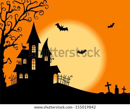 Halloween vector card - stock vector