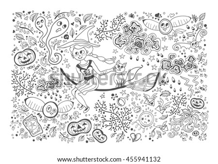 Cute Child Bed Dreaming Puss Boots Stock Vector 182142056