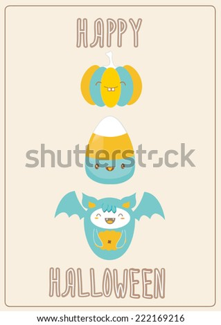 halloween vector card/poster/invitation/flier/ads - stock vector