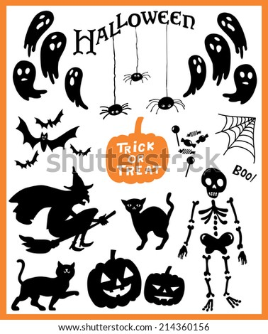 Halloween vector collection - stock vector