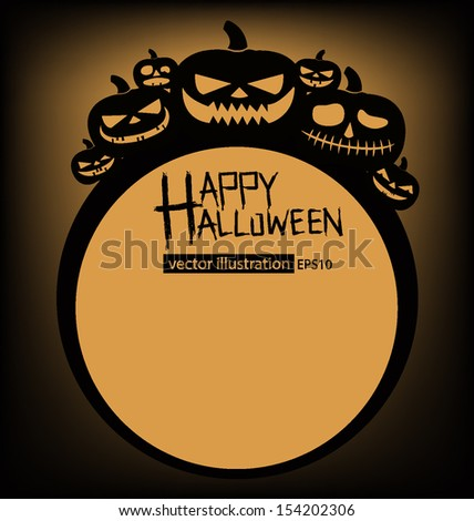 Halloween vector illustration. - stock vector