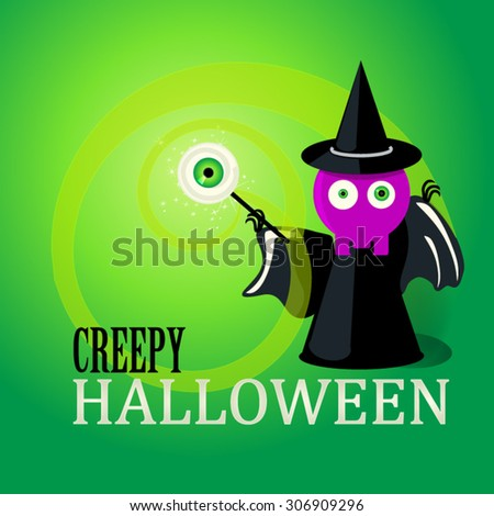 Halloween vector party poster, scary collection. - stock vector