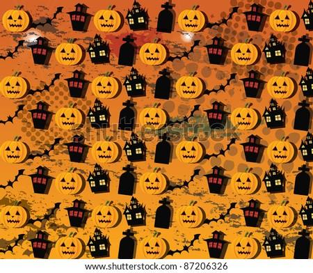 Halloween wallpaper, vector - stock vector