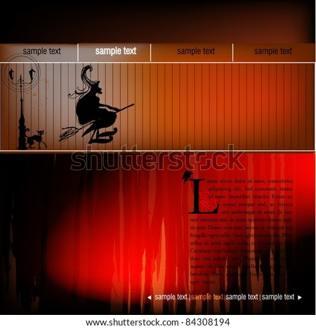 halloween web template stock vector 84308194 shutterstock