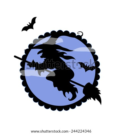 halloween witch flying shape - Flying Halloween Witch