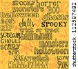 Halloween words and icons background vectorPrint - stock