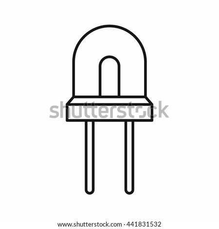 Halogen lamp icon in outline style isolated on white background - stock vector