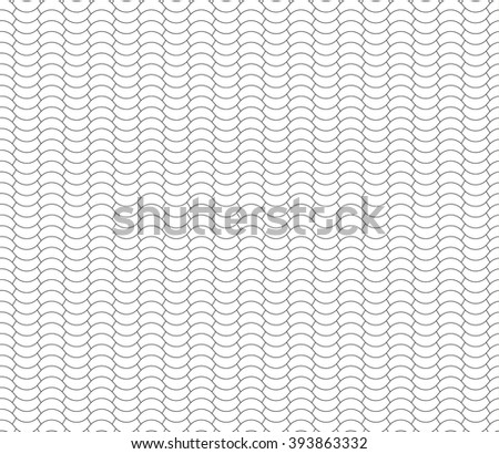 halves waves black and white seamless background .Vector illustration. EPS 10. - stock vector