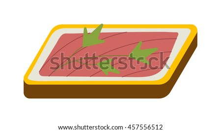 Ham vegetable sandwich vector illustration. Breakfast fresh sandwich delicious vegetable, bacon slice. Delicious baguette big sandwich breakfast fresh, cheese, meal healthy fast food. - stock vector