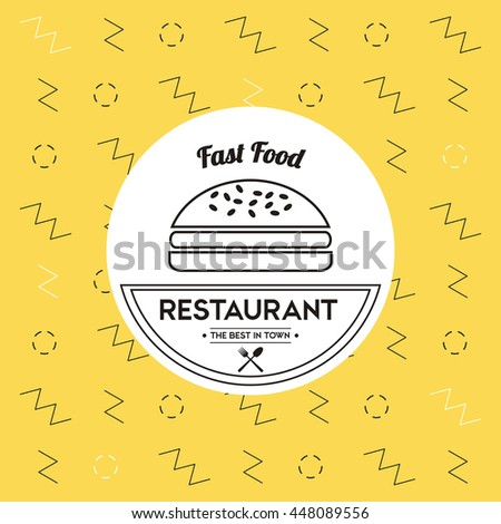 Hambuger icon. Food and Menu design. Vector graphic