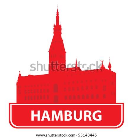 Hamburg skyline - stock vector