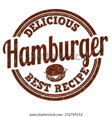 Hamburger grunge rubber stamp on white background, vector illustration - stock vector