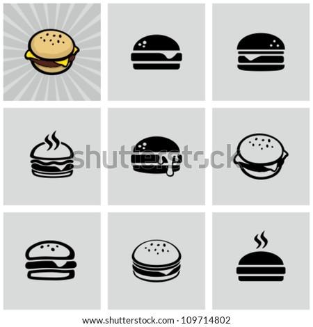 Hamburger icons set - stock vector