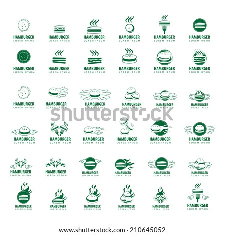 Hamburger Icons Set - Isolated On White Background - Vector Illustration, Graphic Design Editable For Your Design - stock vector