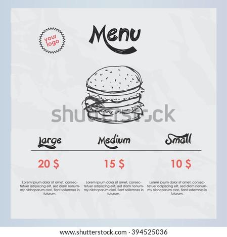 Hamburger menu - stock vector