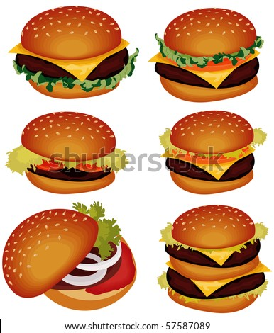 Hamburger. Vector - stock vector