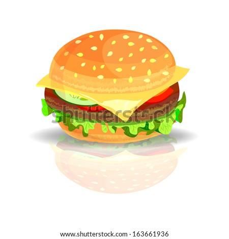 Hamburger vector illustration - stock vector