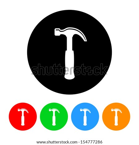 Hammer Icon - stock vector